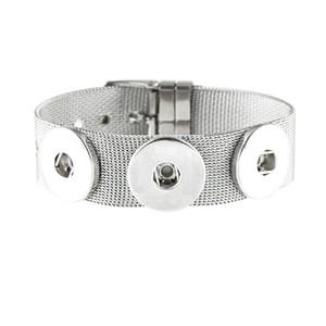 JaynaLee 3 botones de acero inoxidable Ginger Snaps botón pulseras de la joyería fit 18 mm o 20 mm Snaps para mujeres hombres regalo GJB8022
