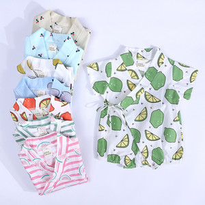 Summer Infant Baby Rompers Kids Cartoon Fruit Printed Toddlers Climb Clothes Babies Onesies Rompers 13448