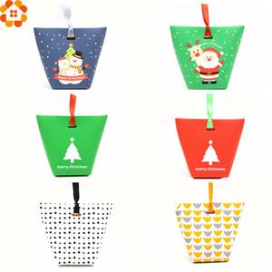 10 ADET DIY Şeker Kutusu Kağıt Kutusu Noel Şeker Kutusu Parti Şekeri CookieCandy Çantası veya Bisküvi Aperatif Pişirme Paketi Malzemeleri