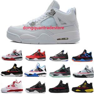 2018 4 Basketbol Ayakkabıları erkekler 4 s Saf Para Royalty Beyaz Çimento Prim Siyah Bred Yangın Kırmızı erkek Spor Sneakers boyutu 8-12