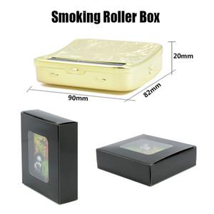 Rolo De Fumar Caixa De Rolo De Fumar Caixa De Rolamento Rectangle Máquina De Rolo De Fumar Caixa De Rolo De Matel Cigarro Rolling Rolling Paper