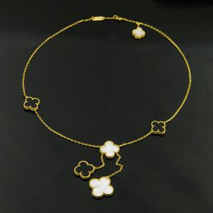Perlmutt-Anhänger-Halskette Quasten Liebe Aufwenden Ruhm Riches Frauen V-Partei Titanium Ketten 1906 Klassische Schmuck