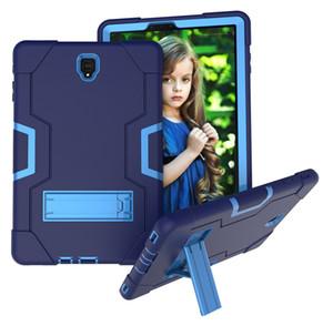 Crianças safe 3 em 1 à prova de choque híbrido case silicone + pc capa para samsung galaxy tab s4 10.5 t830 t835 t837 2018 tablet + stylus