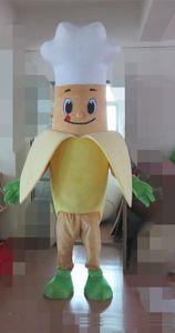 2018 High quality hot Fruit banana chef Mascot Costume Lovely pig mascot costume