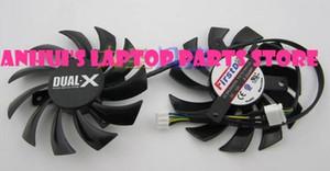 Firstd FD7010H12S Tarjeta de video de 75 mm Reemplazo de ventilador doble 40 mm 12 V 0.35 A 4 Cables 4 pines para zafiro AMD Dual-X HD6950 HD7790 HD7850