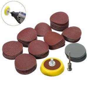 Abrasivos 1 '' Placa de soporte de lijadora Almohadilla de 1/8 pulgadas Shank + 100x Disco de papel de lijado HQ Pad Disco de lijado Accesorios eléctricos para amoladora