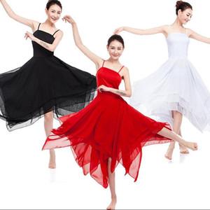 Élégant Lyrical Modern Dance Costumes tenues femmes Ballet Dress Adult Contemporary Dance robes Performance Vêtements