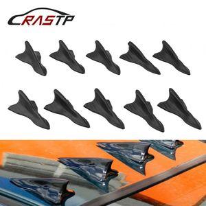 RASTP 10pcs Universal Auto Car Vehicle Roof Shark Tail Fin Black Vortex Wing Tip Type Decoration RS-LKT023