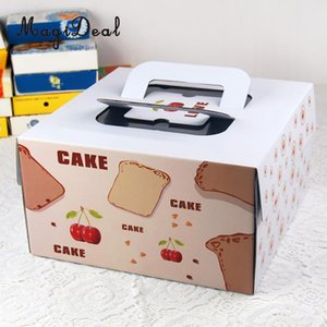 10 pcs Papel Cereja Portátil Baking Food Food Boxes Recipientes Caixas de Presentes