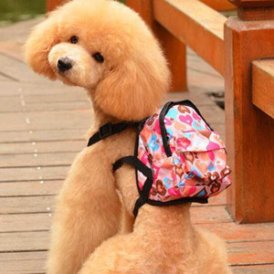14-18cm suit Cartoon Cute Dog Backpack Canvas Multicolor Pet Dog Carrier Bags Puppy School Bag Chest Backpack For Dogs And Cats