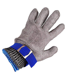 Safety Cut Proof Stab Resistant Stainless Steel Metal Mesh Butcher Gloves Size L High Performance Level 5 Protection D18110705