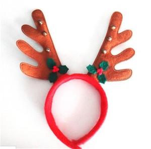 Braun Tuch Kleine Glocke Blatt Geweih Kopf Hoop Weihnachten Geweih Kopf Schnalle Cartoon Tier Modellierung Gute Qualität 1 7zm dd