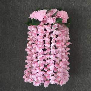 Artificiale ortensia appeso a parete in rattan di seta bouquet ramo festa nuziale balcone simulazione fiore pianta decorazione della parete
