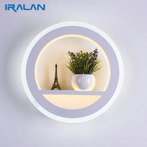 Moderno LEVOU luzes de Parede 12 W Moderna sala de estar Quarto Simples de Cabeceira lâmpadas de Parede Interior Acrílico Mesa de cabeceira de iluminação para casa