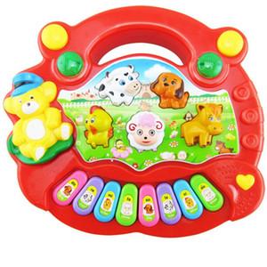 Neue Baby-Kind-Karikatur-Musical Klavier Lernspielzeug Animal Farm Musik Klavier Buntes Developmental Musik Spielzeug Weihnachtsgeschenk
