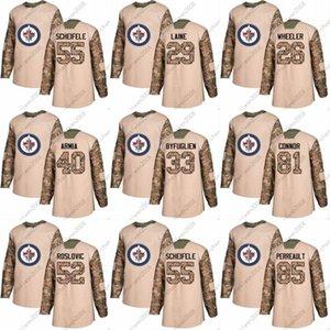 2018 Camo Veterans Day Tucker Poolman Jacob Trouba Connor Hellebuyck Michael Hutchinson Steve Mason Winnipeg Jets Custom Hockey Jerseys