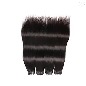 Эксклюзивная скидка 10-30 дюймов перуанский прямые волосы пучки 100% человеческих волос Weave 6а необработанные девственница наращивание волос