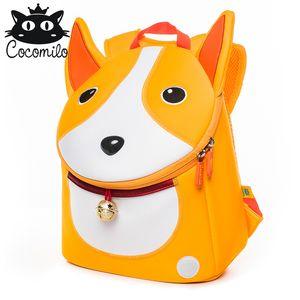 comilo  3D Kid Bags For Girls Boys Cartoon Kindergarten School Bag Bear Cat Pattern Backpacks  Infantil 4-6 Years