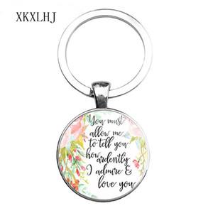 HOT Bible Quote Keychain Se Dio è per noi chi può essere contro di noi Versetto Christian Nursery Jewelry Women Men Gifts