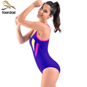 2018 Professional Sports Swimwear Women One Piece Racerback Swimsuit Monokini High Quality  Slim Bathing Suit