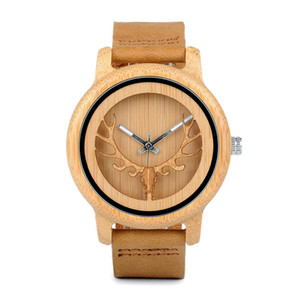 BOBO BIRD A27 Bamboo Wood Orologi Donna Top Vendita Qaurzt Men Watch in confezione regalo Drop Shipping