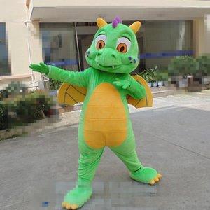 2018 venda direta da fábrica e Dos Desenhos Animados Dianossauro Verde Mascot Costume Halloween Natal Dianossauro Carnaval Vestido de Aniversário