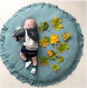 Niños Bebé Juego Estera Color sólido Play Crawl Alfombra redonda Carrito con aire acondicionado Tienda de campaña Cama Cenefa Decoración