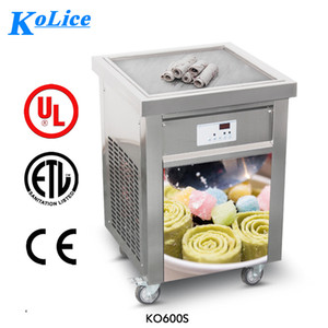 ETL CE NSF 55 * 55CM ساحة عموم لفة الآيس كريم آلة فرايد الآيس كريم لفة آلة مع مبرد كامل