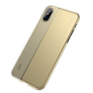 Baseus Pour iPhone X Defender Case Haute Impact Havy Duty Dur Robuste Rabber TPU à Demi PC Couverture Arrière pour iPhone X