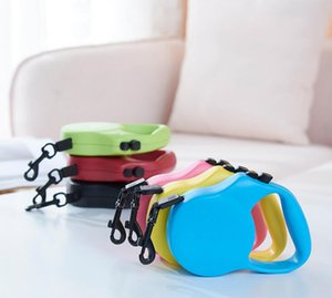 Guinzaglio automatico per animali domestici Gatti regolabili estensibili Cucciolo Camminare Leads Lock Training Strip Corda Pet Collar