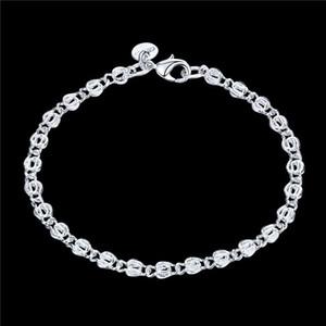 venta caliente tendencia de la moda 925 pulsera de plata de las mujeres JSPB505;! Hot venta mujeres de la muchacha de plata esterlina con cuentas, pulseras de los filamentos