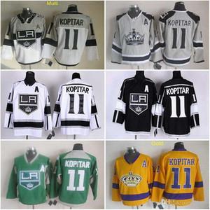 2016 جديد ، رخيصة Anze Kopitar # 11 لوس أنجلوس الملوك أسود / أبيض / الذهب / الأرجواني / رمادي ملعب سلسلة LA Ice Hockey Jersey