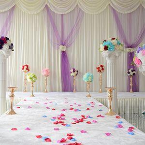 32cm / 38cm / 50cm düğün çiçeği vazo ev mumluk parti bile Mum Yolu Mumluk centrepieces çiçek raf Kurşun