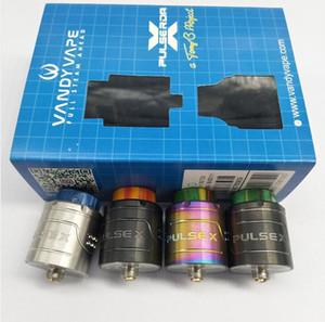 Neueste VandyVape Pulse X BF RDA-Klon austauschbare tropfende Zerstäuber Vape Vapor Vertical Build Deck für 510 Thread Box Mods Hohe Qualität