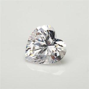 Forma 3x3 ~ 15x15mm 5A Grado Cuore bianco Cubic Zirconia pietra sciolta CZ pietra gemme sintetiche
