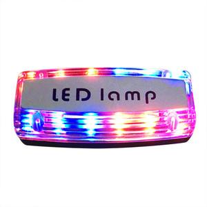 충전식 led 숄더 램프 빨간색 파란색 폭발 어깨 클램프 경고 빛 교통 순찰 안전 신호 램프