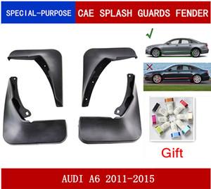 4Pcs Set Car Mudflaps Splash Guards Mud Flap Mudguards Fender For AUDI A6(C7) 2011 2012 2013 2014 2015