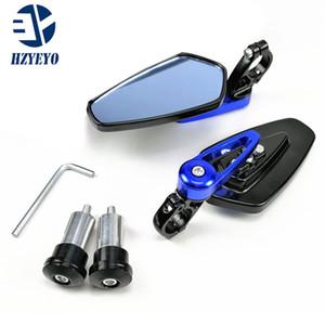 """HZYEYO Universelle 7/8 """""""" 22mm Lenker Motorrad bar Endspiegel Motorrad-Spiegel für Kawasaki Z800 Z750 Z250 Z1000 z900, P-113"""