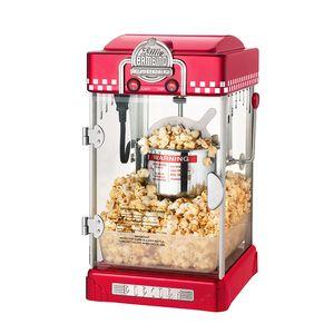 Palomitas de maíz Popper Machine Household Popcorn Maker Estilo Retro Popper de maíz 2.5oz Tipo de oscilación Hervidor de agua de acero inoxidable