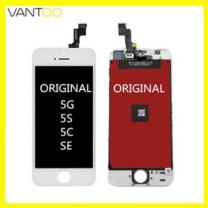 100% original lcd display touch screen digitizer full assambly lcd replacement for iphone 5 5s 5c SE retail package