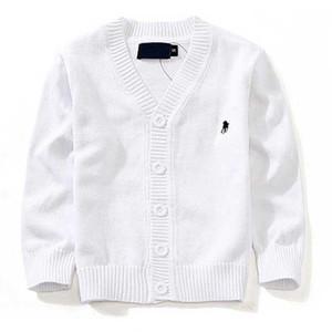 Nueva marca de ropa para niños 100% algodón suéter del bebé niños de alta calidad prendas de vestir exteriores suéter de la muchacha del muchacho suéter con cuello en v polo suéteres 00001