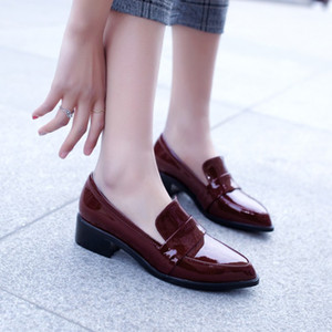 Pumps Patent leather Shoes Woman Genuine Leather Fashion women's shoes New 36 37 38 39 40 41 42 EUR size 33-43