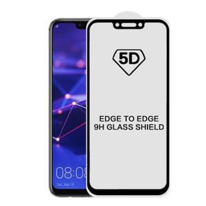 Huawei P30 프로 P 똑똑한 명예 10 lite Y9 노바 4 2019에 대한 5D 전체 커버 강화 유리 화면 보호기