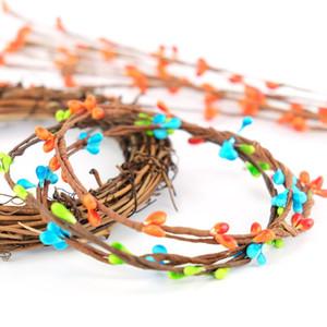 50pcs gros-bon marché 40cm bricolage décoration fleurs Scrapbooking guirlande décorative faux bourgeon branches artificielles fleur fil de fer pour le mariage