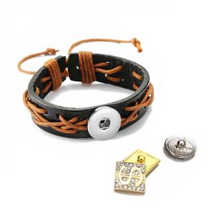 Регулируемый браслет 171 ручной работы действительно кожа ретро мода браслет 18 мм Оснастки кнопка ювелирные изделия Шарм браслет для женщин подарок