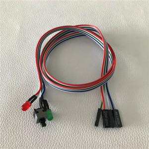 10 adet / grup PC Masaüstü Bilgisayar Şasi Anahtarı Sıfırlama Düğmesi Sabit Disk Durumu LED Güç LED Kablosu 65 cm