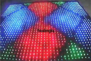 P9 3x4m Flexível LED Cortina de vídeo macio Palco fundo do casamento rgb levou cortina de vídeo