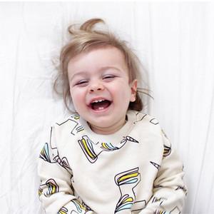 INS Hot Boys Unicorn Maglione di cotone T-shirt manica lunga morbido tocco Bambini causale stile semplice girocollo maglione 80-120cm 5 taglie un sacco