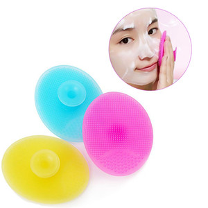 1 Pc Silicone Wash Pad Blackhead Face Exfoliating Cleansing Brushes Facial Skin Care Cleansing Brush Beauty  Tool 6 Color