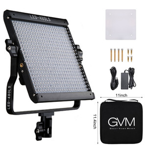 GVM 480 LED Studio Light Panel 2300K ~ 6800K LED Video Light Dimmable LED Camera Light Lamp for Video Studio Photography